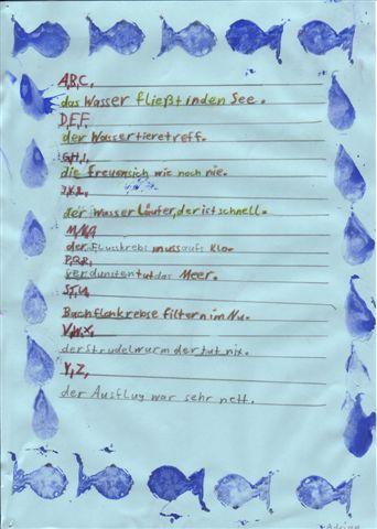 Wasser Gedicht